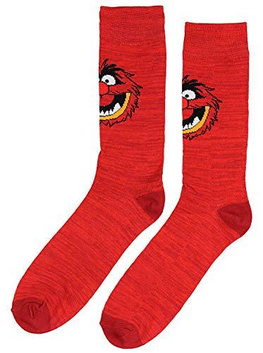 Disney The Muppets Socks Animal Men's Casual Crew Socks, Shoe Size