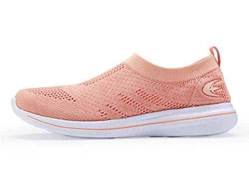Walking Beach Loafer Women's Mesh Slip Shoes Casual White Orange On Sneakers Street Cqww8xYIZ