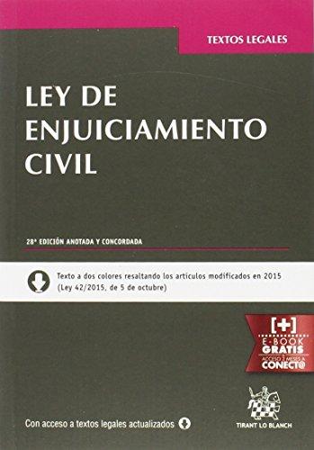 Ley De Enjuiciamiento Civil 28ª Edición 2016