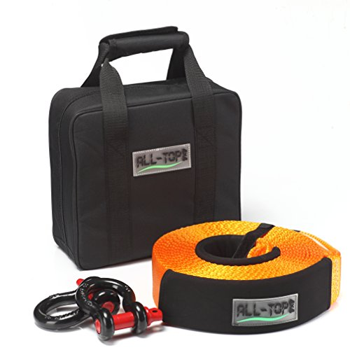 New ALL-TOP Tow Strap Recovery Kit-3 x 30' (32.000 lbs.Capacity) Nylon Snatch Strap + 3/4 D Ring Bo...
