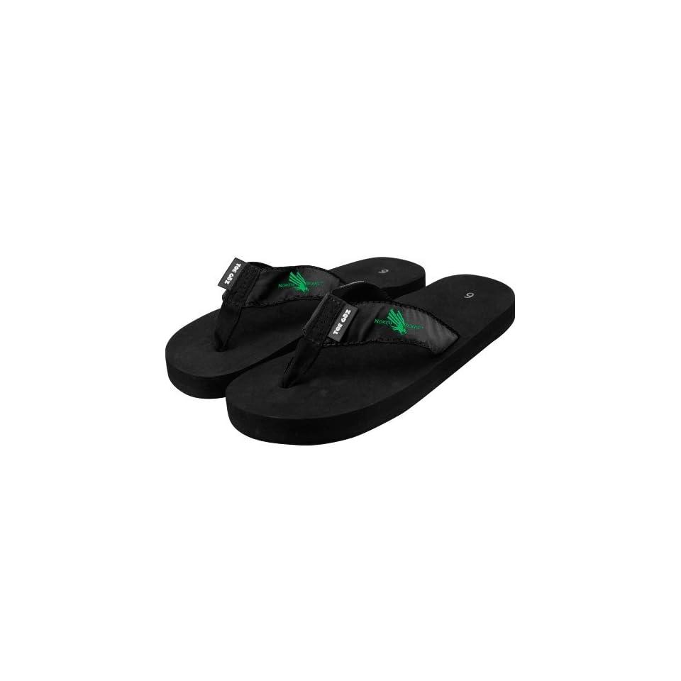 NCAA North Texas Mean Green Black Basic Flip Flop