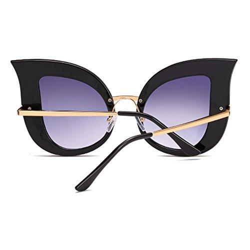 de de Vintage Sunglasses Eye metal gran de Inlefen con Cat sol primavera marco tamaño bisagras C1 de Gafas de moda BqptTX