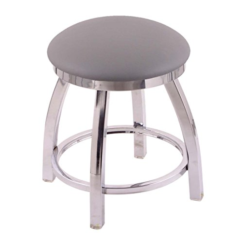 Metal Trica (Holland Bar Stool Co. 802 Misha Vanity Stool with Chrome Finish and Swivel Seat, 18