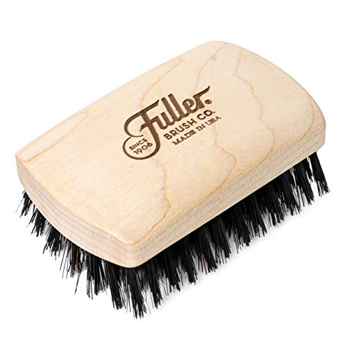 Fuller Brush Maple Wood Beard Brush with Genuine Boar Bristle - Comfortable Wooden Block to Easily Fit in Your Hand