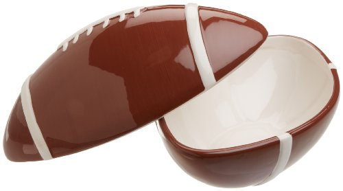 DII Game Day Football Ceramic Bowl with Lid (Pinterest Christmas Gift Baskets)