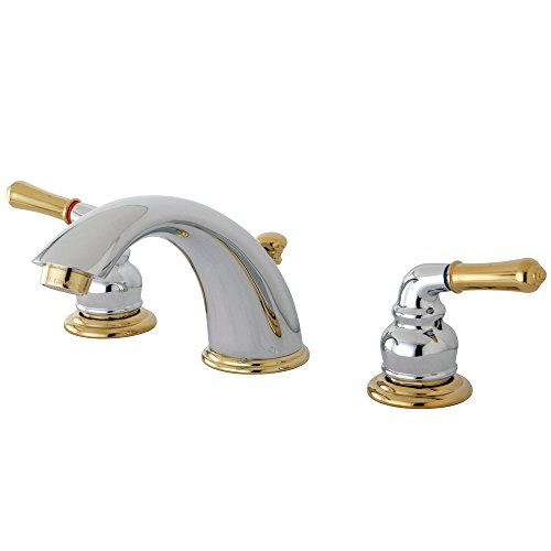 Elements of Design Magellan EB964 Widespread Lavatory Faucet 8-Inch to 16-Inch Centers, Polished Chrome/Brass by Elements of Design