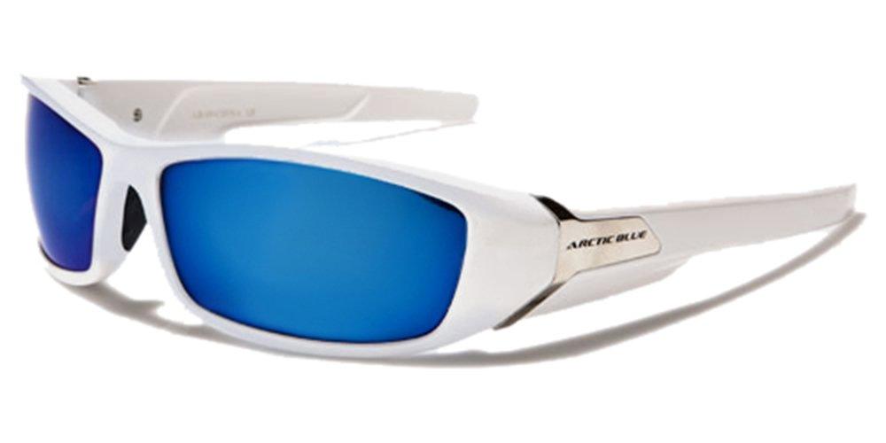 ArcticBlue Lunettes de Soleil - Sport - Cyclisme - Ski - Conduite - Motard - Plage / Mod. Kite Noir Bleu Miroir / Taille Unique Adulte / Protection 100% UV400 1fZ6uGyywJ