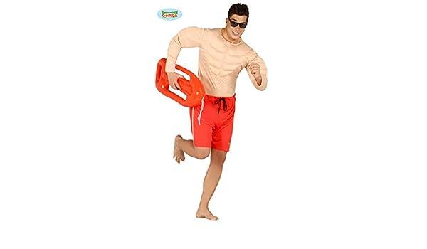 Disfraz de socorrista musculoso para hombre - L: Amazon.es ...