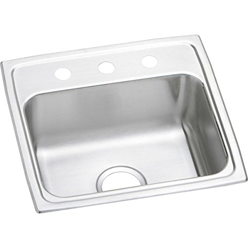 Elkay Lustertone LR19191 Single Bowl Top Mount Stainless Steel Sink ()