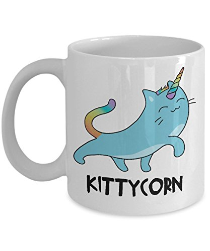 Unicorn Mug Cat Unicat Meow Kitten Kitty Fantasy Rainbow Gift Costume Funny Sparkle Coffee Cup for Pet Lover Magical Night Out