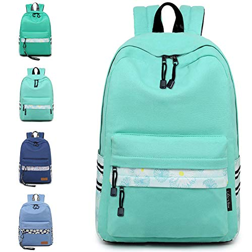 VentoMarea Lightweight Canvas Teen Girls Backpacks College High School Bookbag