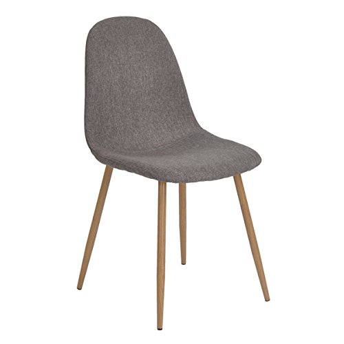 Homy Casa Set of 4 Eames Style Dining Chairs Modern Living Room Chairs for Kitchen Dining Room (Grey) Homy Casa Inc.