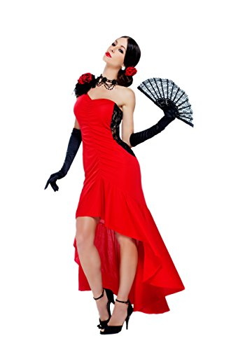 [Sizzling Senorita Flamenco Dancer Costume] (Dance Fans Costumes Accessories)