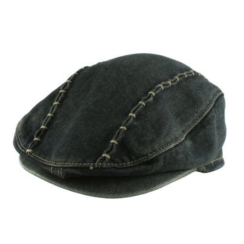 Morehats Denim Newsboy Flat Cap Gatsby Ivy Irish Cabbie Driver Hunting Hat - Jean