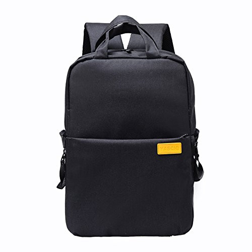 YuHan Oxford Multi-function Waterproof Anti-shock SLR/ DSLR Camera Backpack Smart Photography Video Bag Travel Rucksack for Nikon Canon Sony Pentax Sony Camera with Rain Cover Black