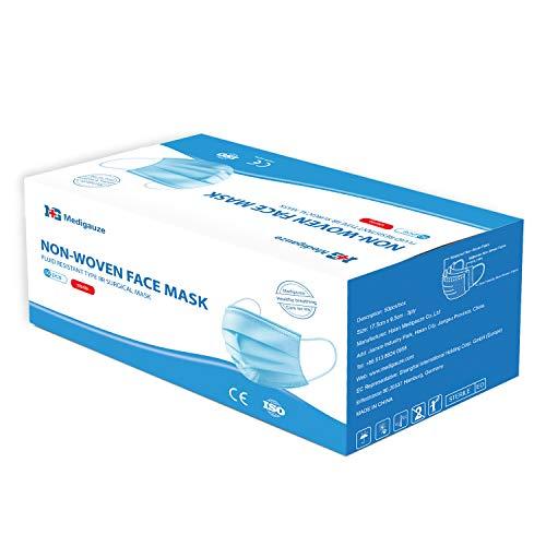 KEPLIN 3 Ply Surgical Type IIR Face Masks Medical Fluid Sterile