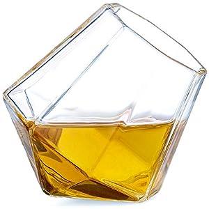 Dragon Glassware Diamond Shot Glasses, Premium Designer Cups for Liquor and Spirits, 1.7-Ounces, Gift Boxed – Set of 4