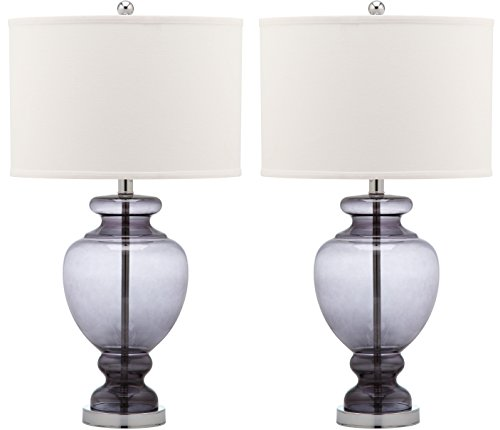 Safavieh Lighting Collection Grey Glass 28-inch Table Lamp (Set of 2)