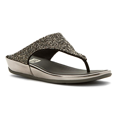 sandals Banda 6 Roxy M FitFlop Pewter Pewter Women's ZqfUnxgw