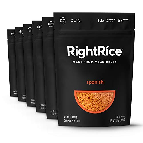 RightRice Spanish. Vegetable Rice Made from Vegetables. 7oz - Pack of 6