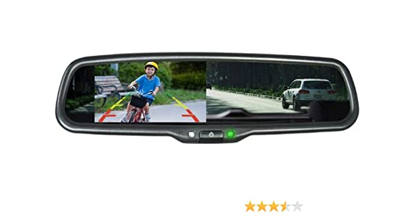 Vission AM-43RVM Black 4.3 Factory Replacement Rearview Mirror Monitor