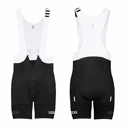 Uglyfrog Designs Mens Pro Cycling Bib Shorts 3D Gel Padded Cycling Pants Sublimation Cycling Shorts (Bib Fleece Capo)