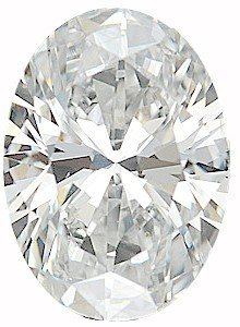 Oval Si1 Loose Diamonds (Discount Diamond Melee, Oval Shape, G-H Color - SI1 Clarity, 6.00 x 4.00 mm in Size, 0.5 Carats)