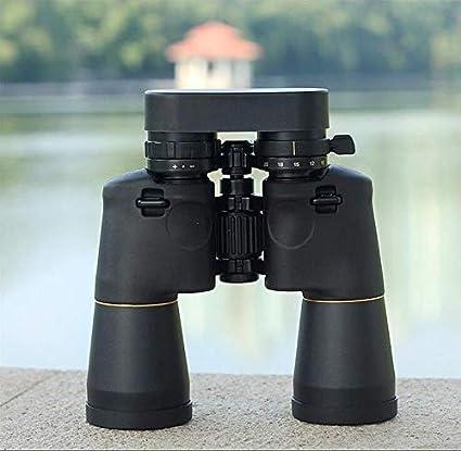 Binoculares 10X50 Gran Angular Luz Débil Visión Nocturna Binoculares Impermeables con Coordenadas, Viaje Al Aire Libre Telescopio Práctico Portátil Telescopio, Sandfan10X50, TSJ, Negro