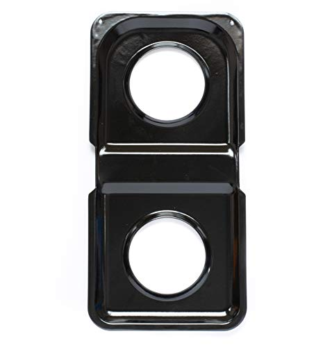 Range Kleen P501 Black Porcelain Rectangular Gas Stove Drip Pan