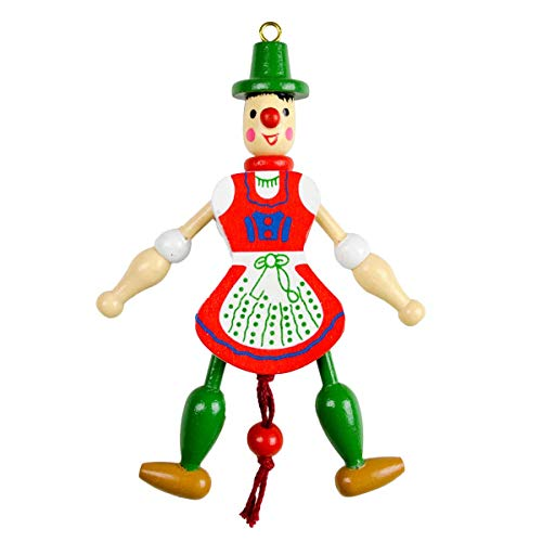 Essence of Europe Gifts E.H.G German Gift Girl Jumping Jack Toy (6.5