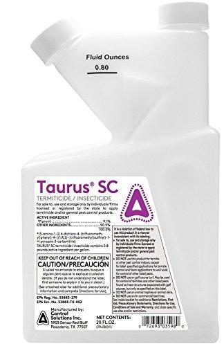 Control Solutions Taurus SC Termite Killer Termite Spray Generic Termidor SC by APS
