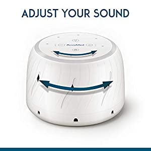 AccuMed White Noise Machine for Sleeping, Baby, with Natural Fan, Night Light, Variable Volume – High Fidelity Sound Machine for Office Privacy, Sleep, Relaxation, Travel Portable (AC-WN106) White