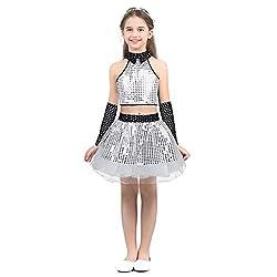 Girls Modern Sequins Dance Outfit