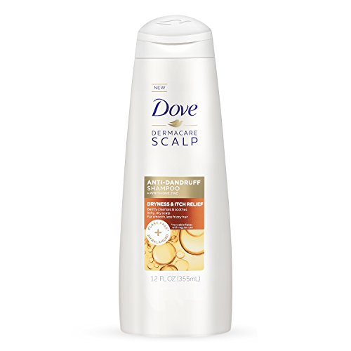 Dove Dermacare Scalp Shampoo, Dryness Itch Relief,12 Ounce (Dove Essential Nutrients)