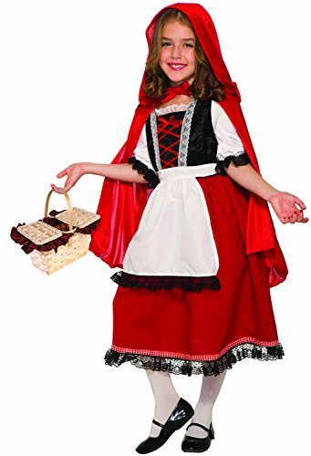 Forum Novelties Party Supplies 81049 Deluxe Little Red Riding Hood Child's Costume, Medium, Multi-Color -