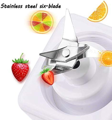Portátil Personal Smoothie Blender, con Ocultos 304 Hoja De Acero Inoxidable Inteligente De Apagado De Protección, con El USB De Carga Rápida, para Gym/Oficina/Viajes