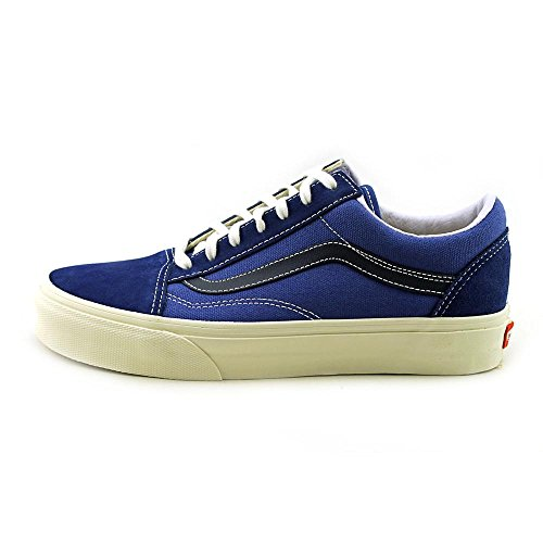 Vans U OLD SKOOL (2 TONE) NAVY/C - Zapatillas de cuero unisex Vintage True Blue/Black
