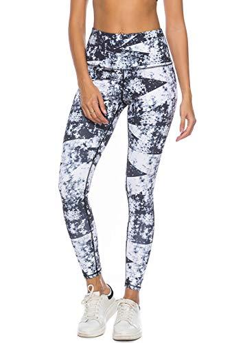 - Mint Lilac Women's High Waist Printed Yoga Pants Full-Length Tummy Control Workout Leggings Medium
