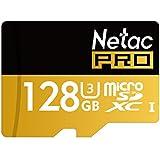 Netac 128GB Micro SD Card UHS I U3 Pro High Speed Micro SDXC TF Memory Card with Adapter
