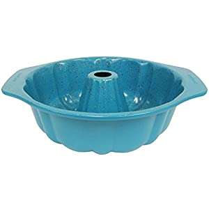 casaWare Fluted Cake Pan 9.5-inch (12-Cup) Ceramic Coated NonStick