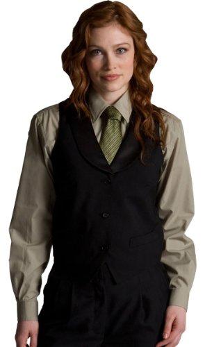 Ed Garments 7495 Women's Black Satin Shawl Vest - Black - X-Large (Vest Shawl Satin)