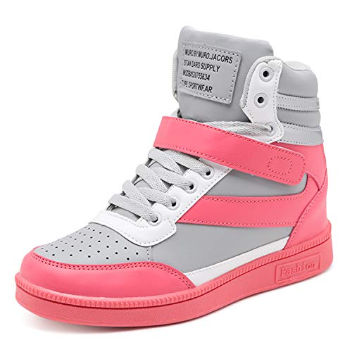 Womens High Top - Barerun Womens Casual Shoes Soft Waling Shoes Warm High-Top Fashion Sneakers Grey 5.5 M US Women