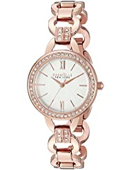 Caravelle New York Womens 44L163 Analog Display Analog Quartz Rose Gold Watch