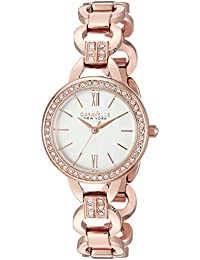 Caravelle New York Women's 44L163 Analog Display Analog Quartz Rose Gold Watch