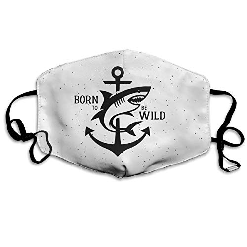 EveXi Born to Be Wild Shark Washable Face Mask,100% Polyester, Dust Mask