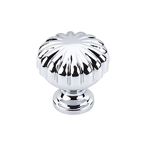 Top Knobs M1615 Somerset II Collection 1.25 Inch Melon Cabinet Knob, Polished Chrome Finish