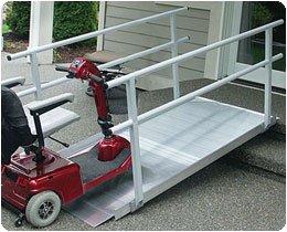EZ-ACCESS Pathway Ramp With Handrails 10' Ramp, 130 lbs. - Model 562380