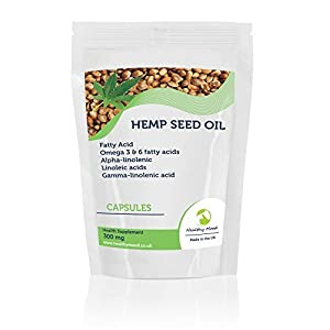 Hemp Seed Oil 300mg Fatty Acid Health Supplement 7 Capsules Help safeguard a balanced intake of fatty acids Supports normal blood cholesterol levels