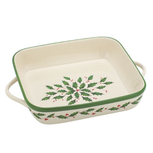 Lenox Holiday Bakeware (Lenox Holiday Square Baker,Ivory)