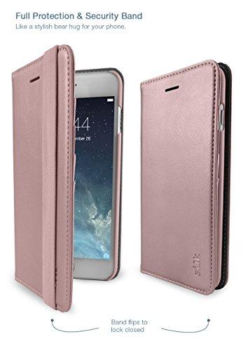 Silk iPhone 7 Plus/8 Plus Wallet Case - FOLIO WALLET Synthetic Leather Portfolio Flip Card Cover with Kickstand -Keeper of the Things - Rose Gold by Silk (Image #5)